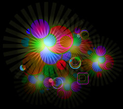Vector Abstract Glowing Light Effect Background Design