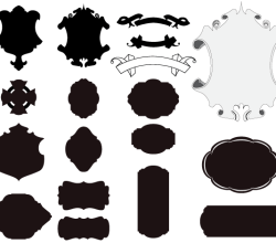 Free Cartouches and Scrolls Vector Graphics