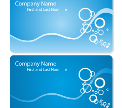 Sea Business Card Vector Template Free