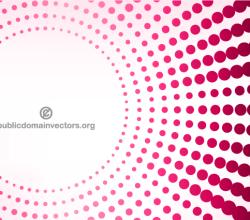 Pink Halftone Dots Background Banner