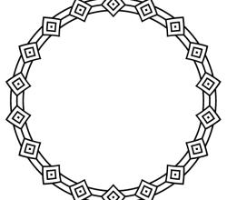 Vector Deco Border Circle Frame Design
