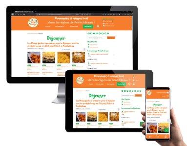 Capture d'écran Boutique en ligne wordpress woocommerce de produits locaux à Pontchateau