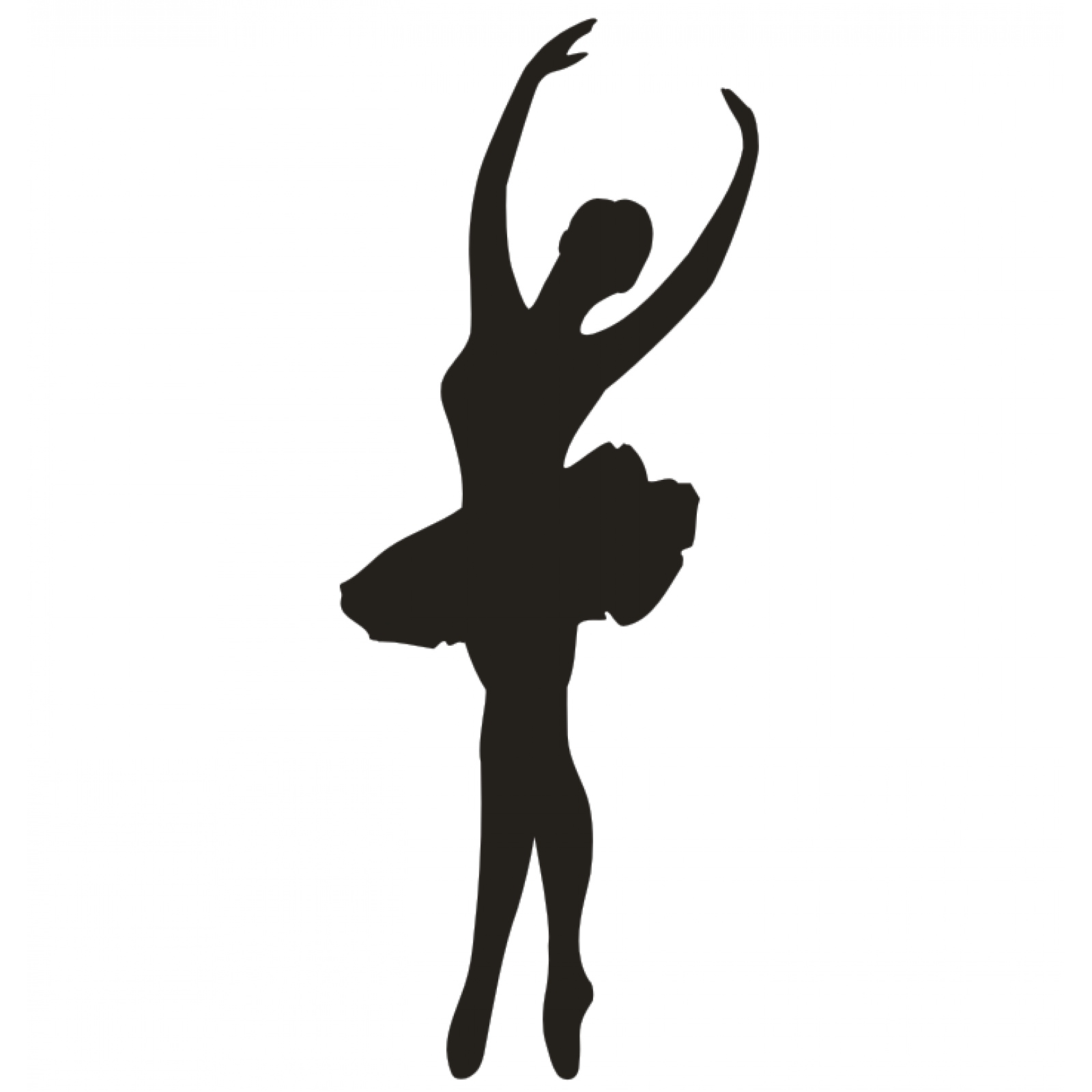 Schatten Wandtattoo Ballett Prima Ballerina Sport