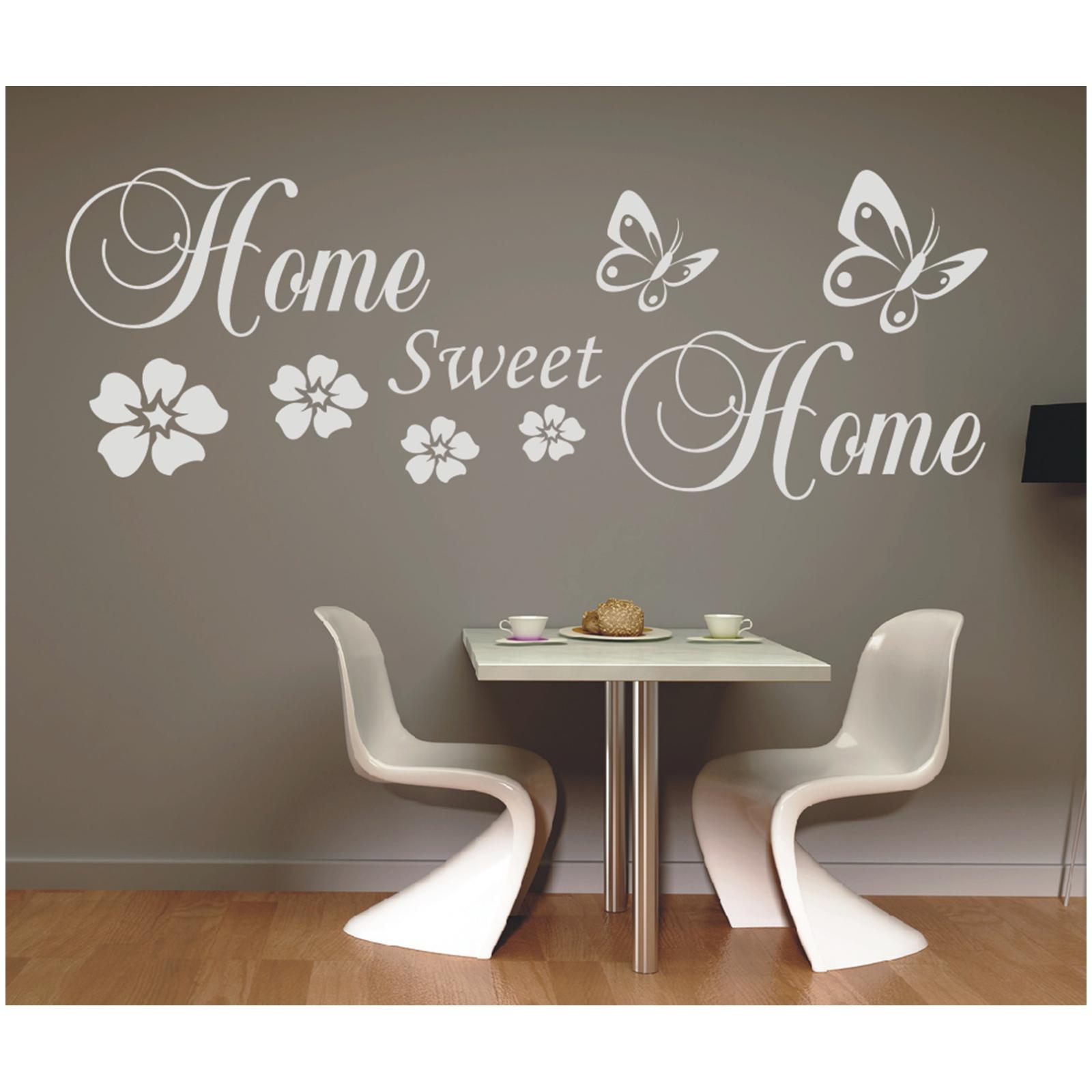 details zu wandtattoo spruch home sweet home zuhause wandsticker sticker wandaufkleber 5