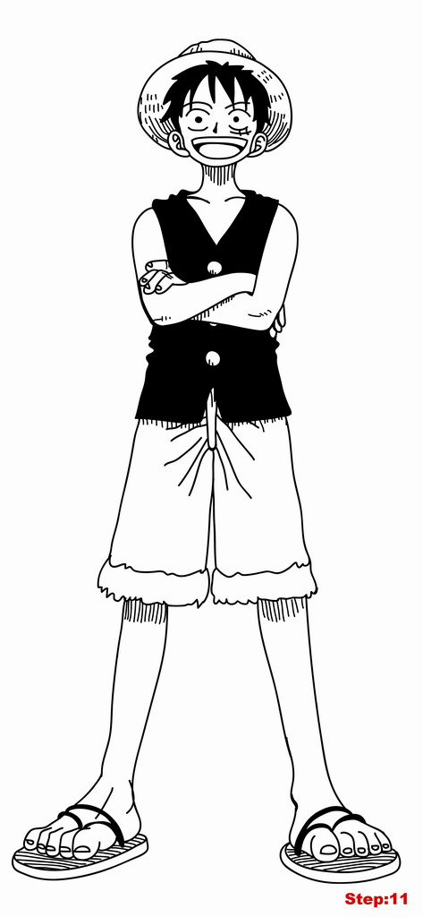 Before timeskip, luffy's body always became smaller after using gear third,. How To Draw Luffy From One Piece Full Body Mangajam Com