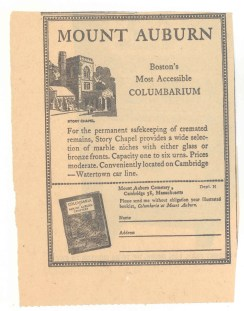1950s Advertisement for Story Chapel Columbarium