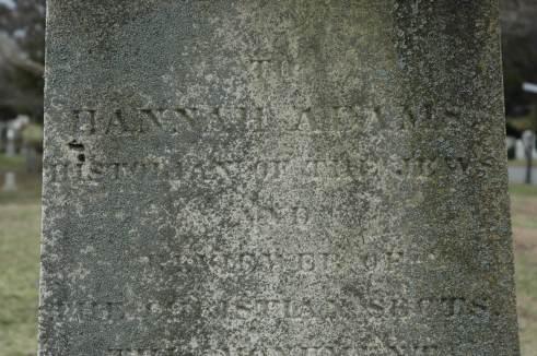 Hannah Adams monument