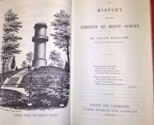 Frontispiece, The History of Mount Auburn by Jacob Bigelow, 1860.