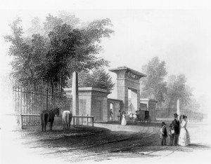 Entrance Gate Engraving, 1847.