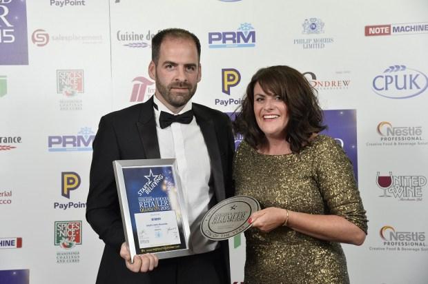 Hugh Smyth, Smyth's with Karen Murray from sponsor Philip Morris