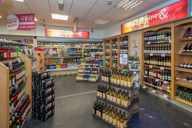 The store's updated off-licence