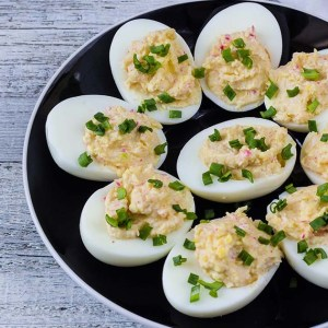 Ceasear Deviled Eggs by St. Supéry Estate Chef