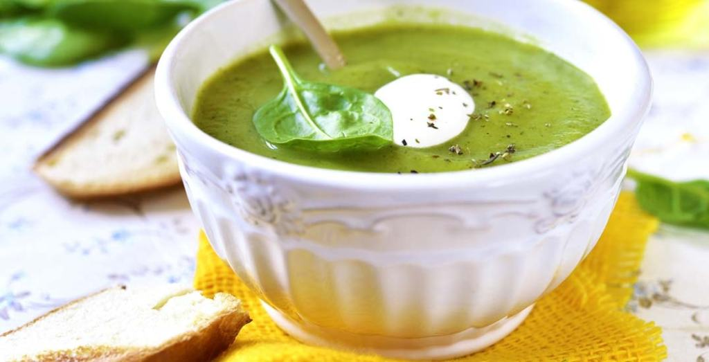 St. Supéry Chilled Spring Pea Soup in white bowl