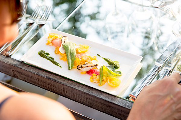 Enjoy a beautifully plated food pairing to complement your wine experience event at St. Supéry