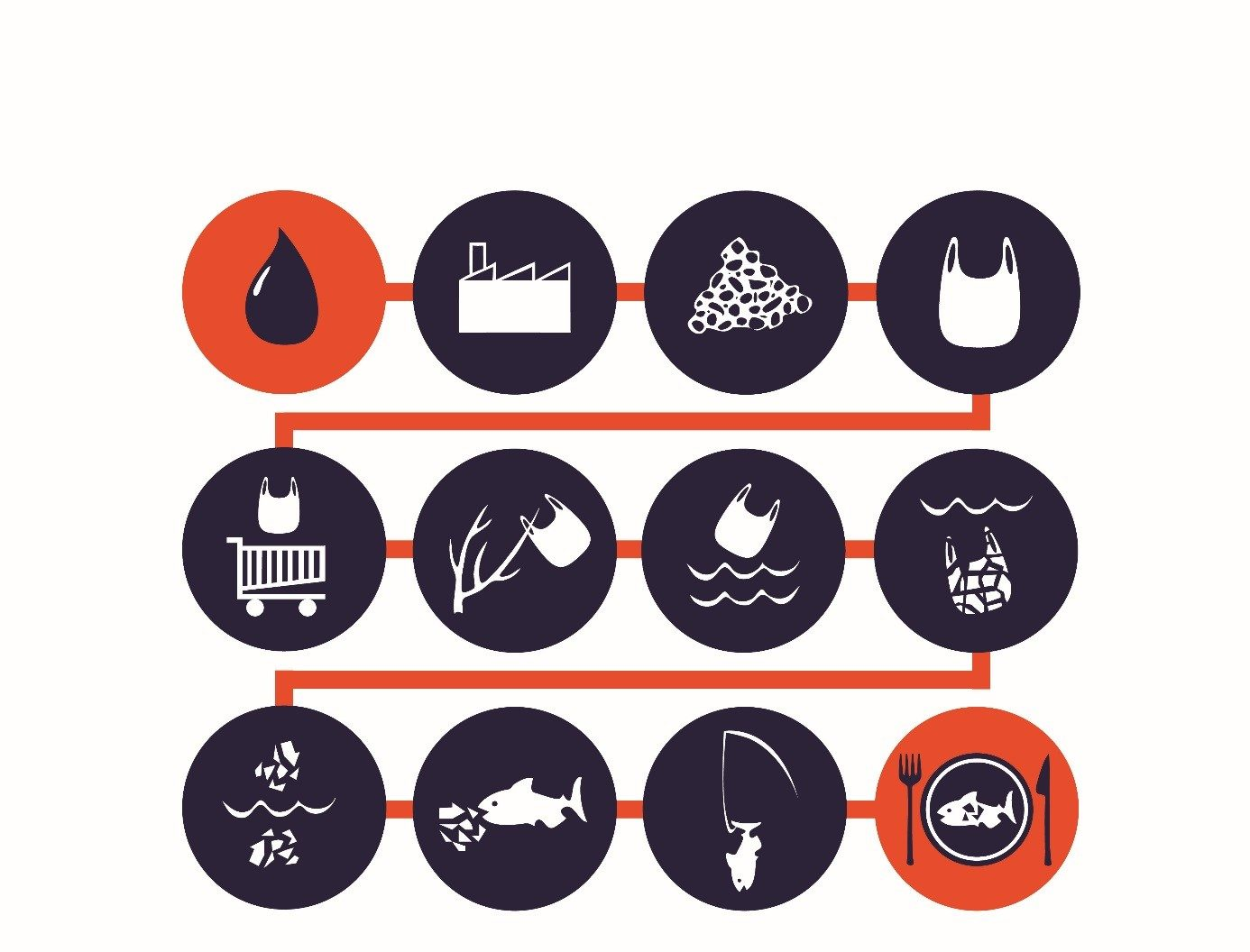 hight resolution of life cycle of a plastic bag from oil to your plate surfridereurope