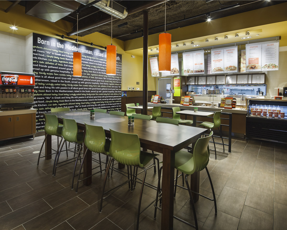 Zoёs kitchen restaurant interior construction the