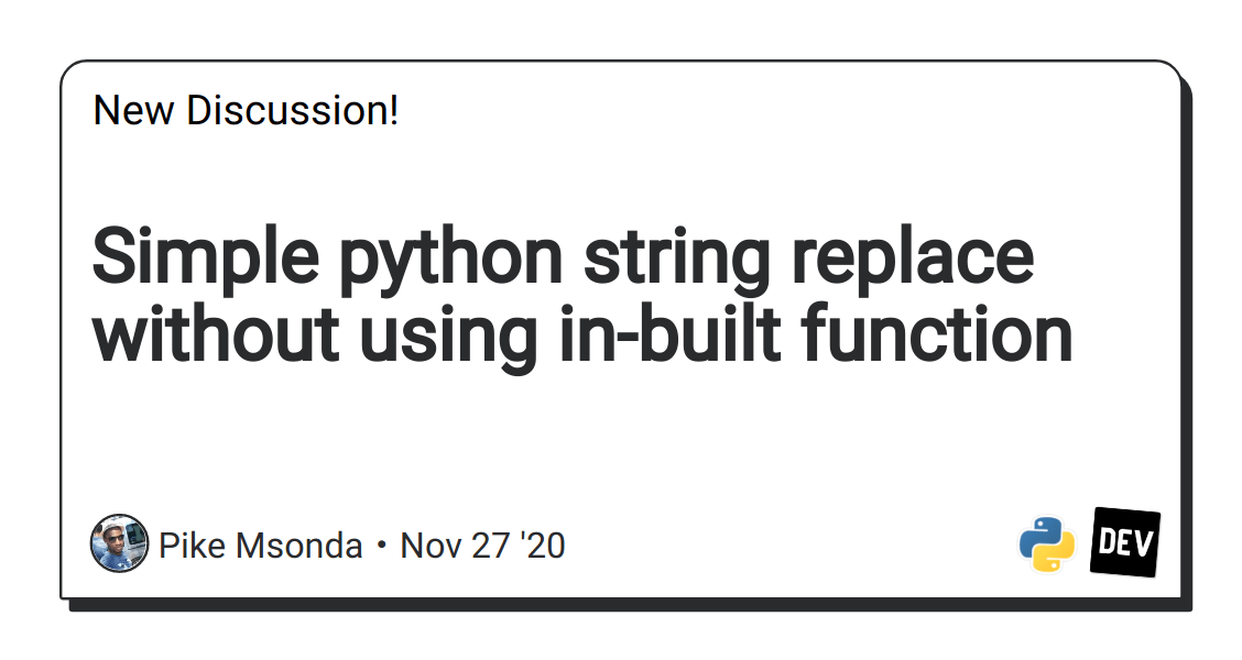 Simple python string replace without using in-built