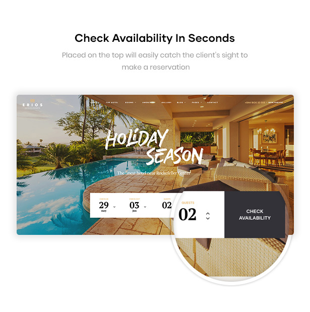 Erios Resort WordPress Theme Check Availability in Seconds