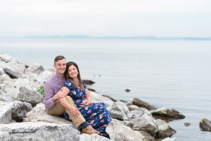 Navy and Pink Engagement Session Inspiration