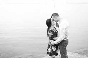Rainy day Engagement Session in New England