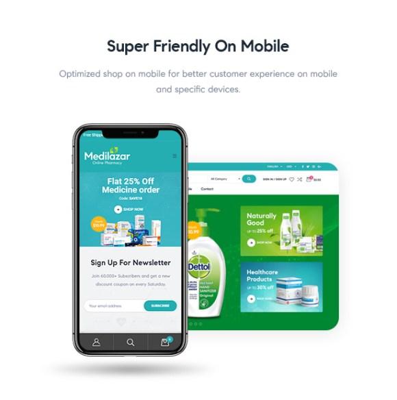 Medilazar Pharmacy WooCommerce WordPress Theme - Pharmacy Website Responsiveness
