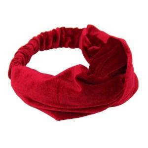 Velvet haarband rood
