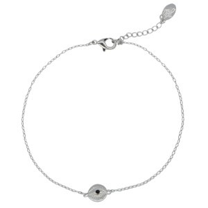 ARMBAND CURIOUS EYES zilver.