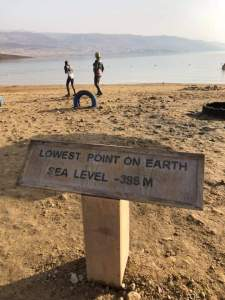 Lowest point on earth Aqaba Jordanië