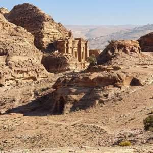 Oude ruïne in Petra Jordanië