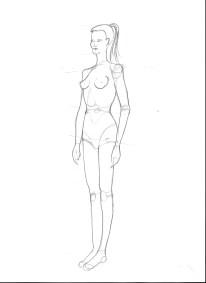 Woman, three-quarter view