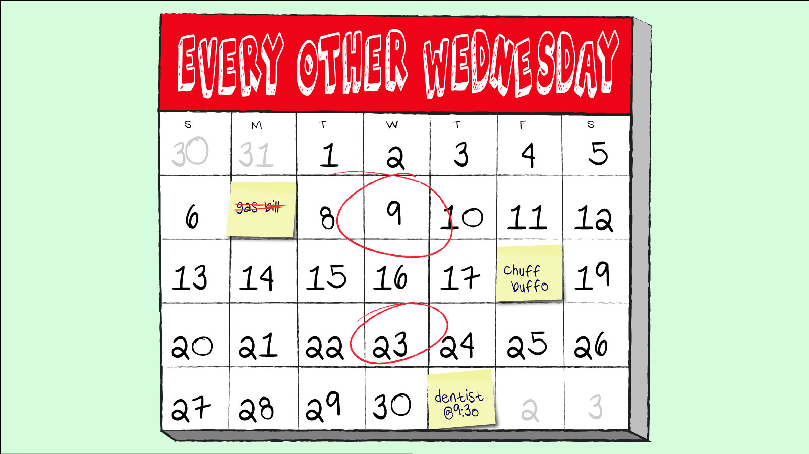 every other wednesday 23