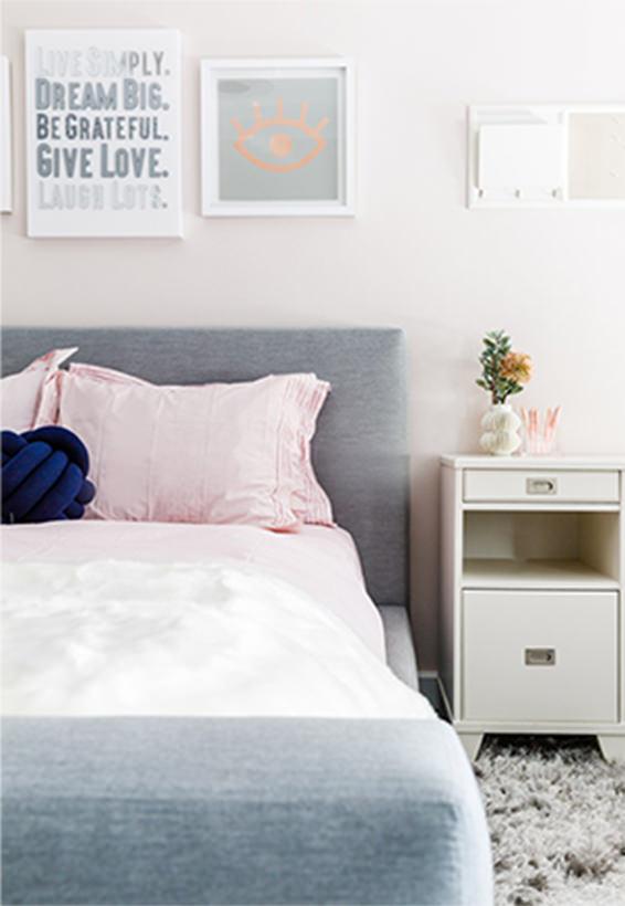 teen girl bedroom pink and grey Living Room Interior Design - Interior Design in NYC & Westchester