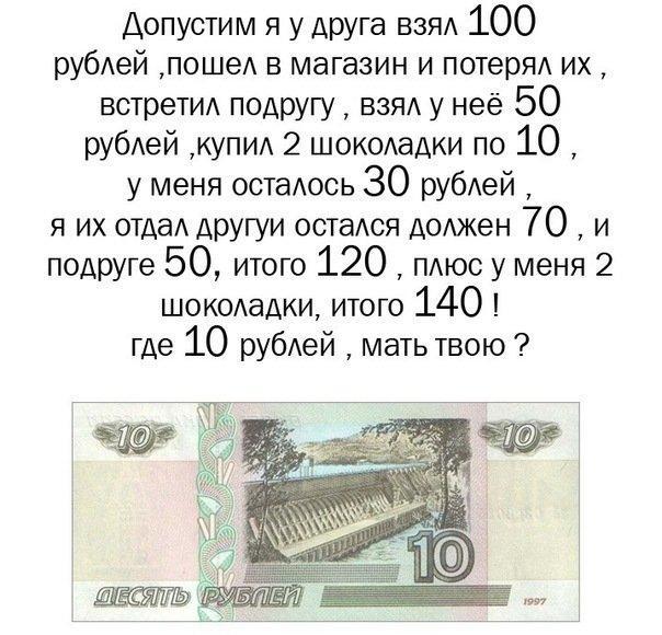 where 10 rub graph - Загадка - Куда делись 10 рублей