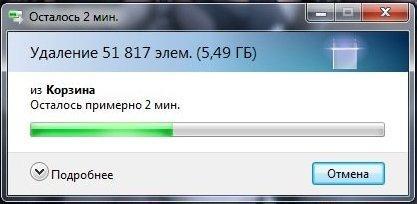 windows bascket clear 2 - Оптимизация Windows —ускоряем свой компьютер, снижаем количество лагов