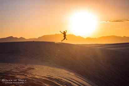 outdoor photography white sands