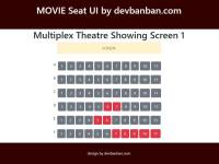 Free Template : Movie Seat  UI by Bootstrap 4