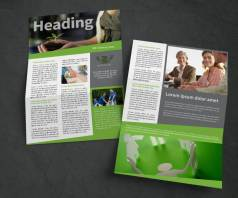 fresh non profit newsletter template 2 design pages