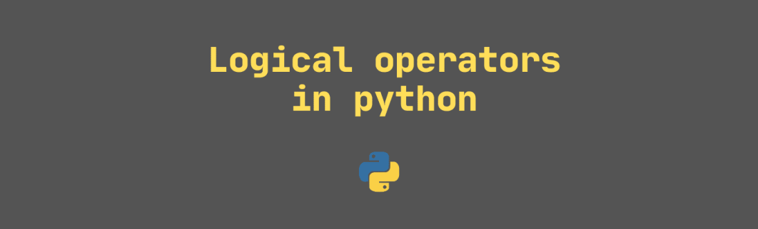 Logical operators in python
