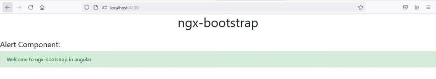 alert component in ngx-bootstrap