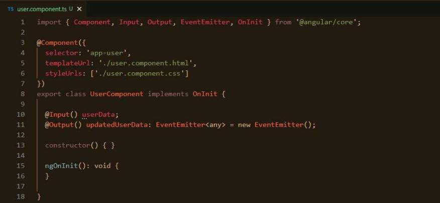 Adding Output and EventEmitter