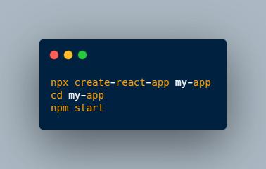 installing react app