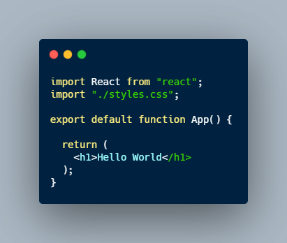 react app setup