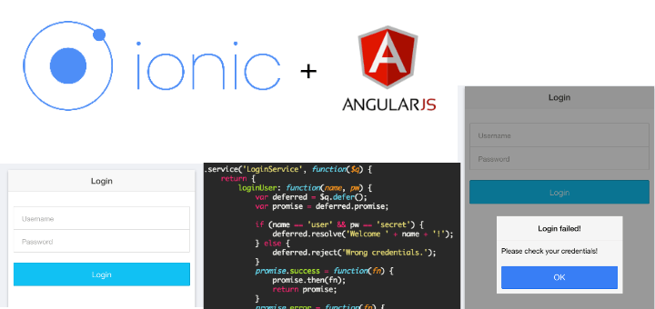 Simple Ionic Login With AngularJS
