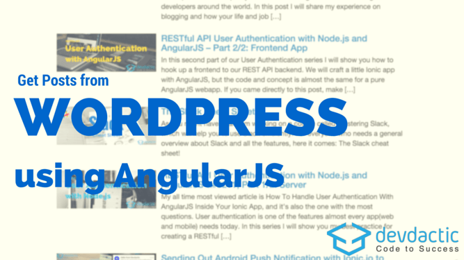 How to Get Posts From WordPress REST API with AngularJS