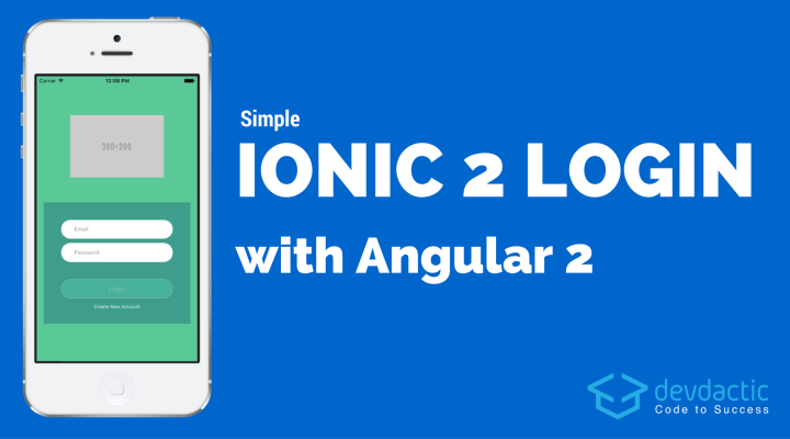 Simple Ionic Login with Angular 2+