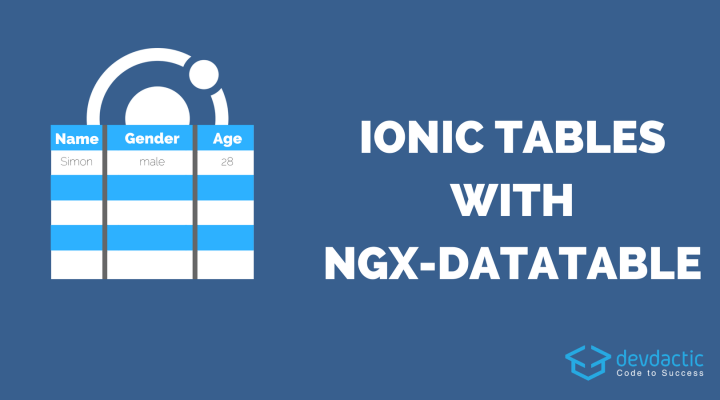 Creating Ionic Datatable With ngx-datatable
