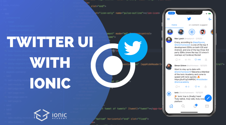 Building the Twitter UI with Ionic Components