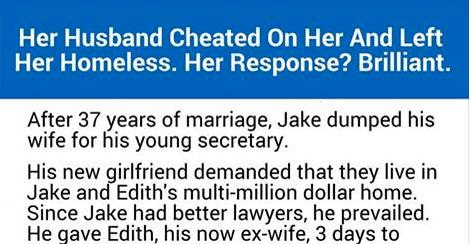 This woman gets the ultimate revenge of her cheating husband