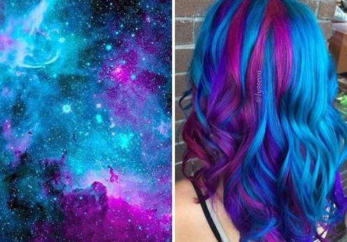 6 Best examples of new and hip galaxy hair trend