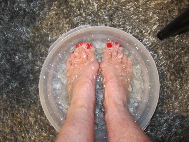 The 'soaking of feet in cold water' treatment